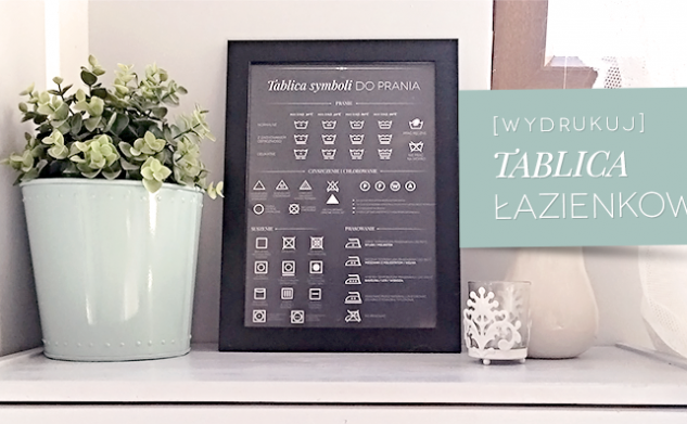 [DIY wydrukuj] Tablica symboli do prania