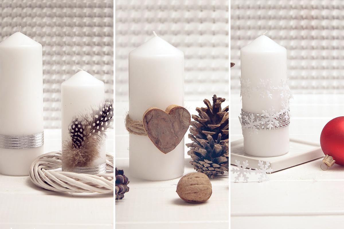 DIY – 3 x świąteczna świeca