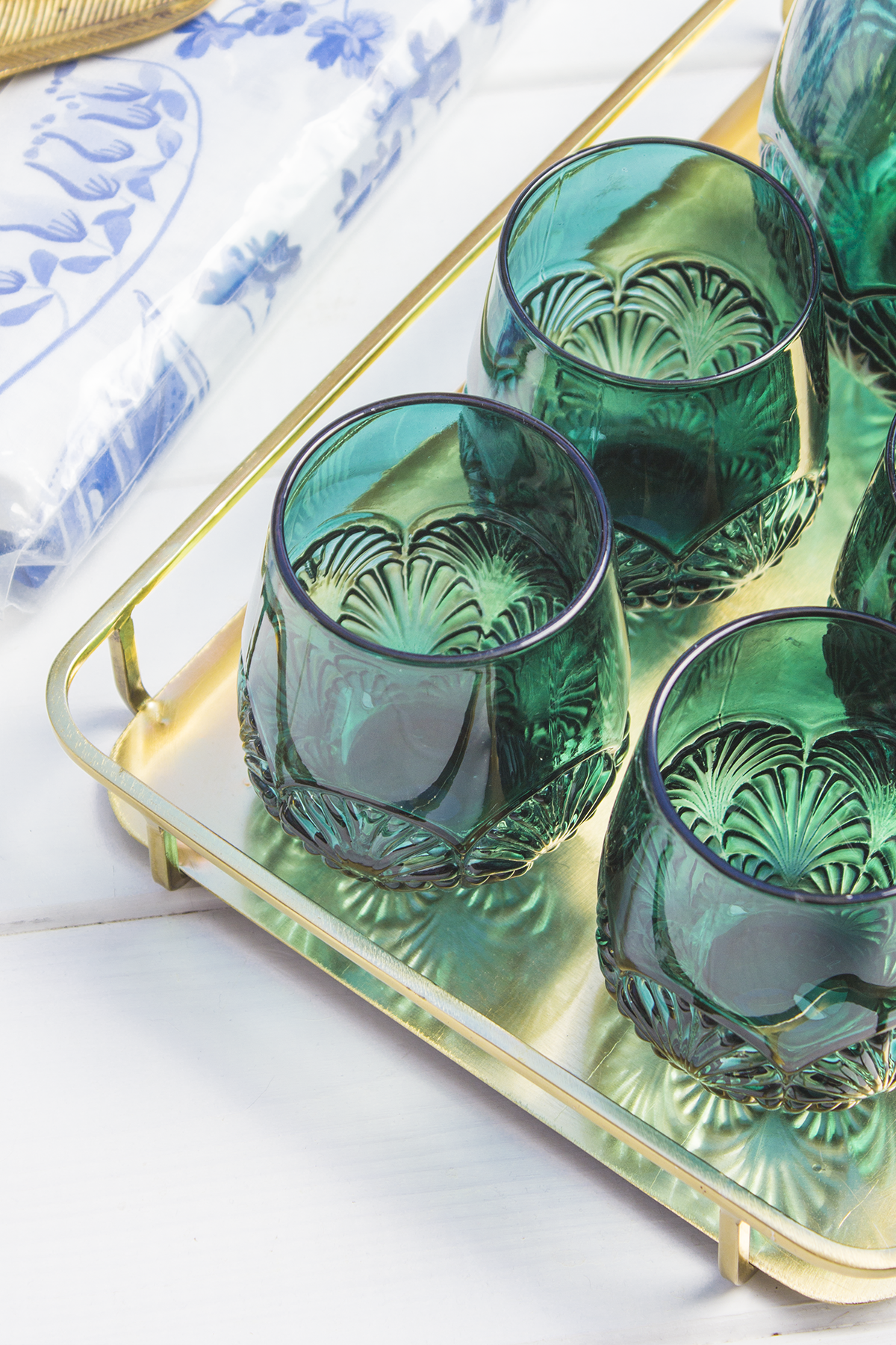 szklanki hm home zielone butelkowe szklo