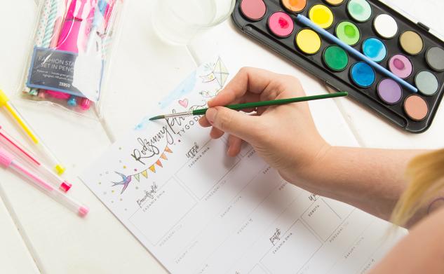 Rodzinne plany zadań do kolorowania