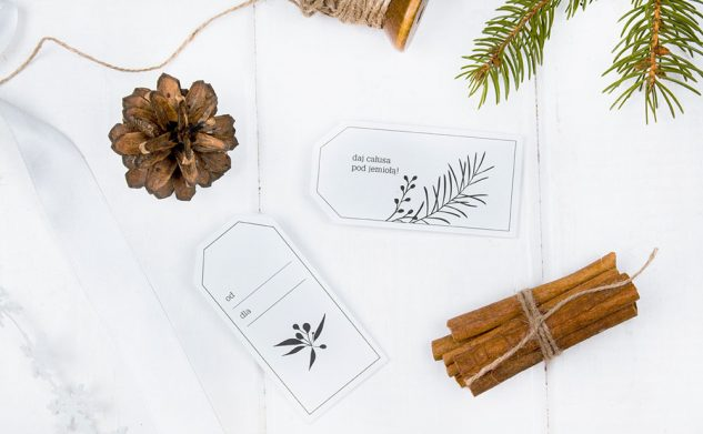 Etykiety do prezentów świątecznych