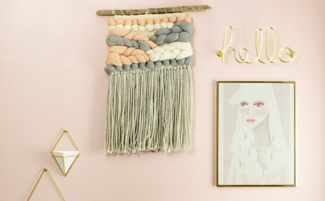 Metamorfoza mojego biura: różowe farby do ścian