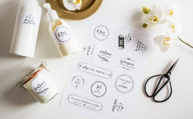 Etykietki do domowego SPA — do druku