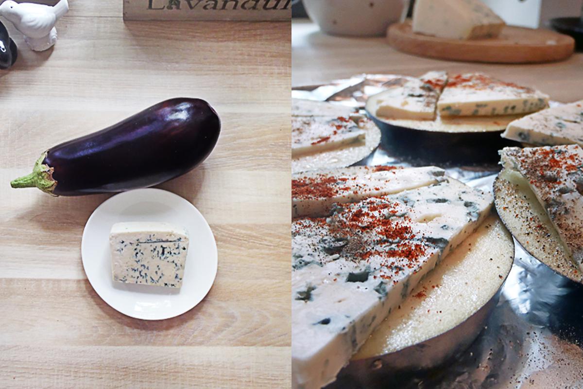 Bakłażan z serem pleśniowym