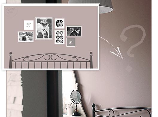 Galeria fotografii i grafik w sypialni