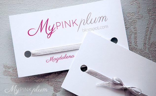 Wizytówki handmade by My Pink Plum!