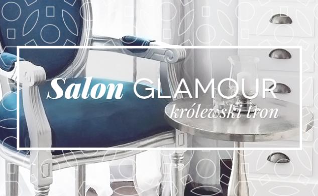 Salon w stylu glamour – królewski tron
