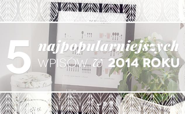 5 najpopularniejszych postów w 2014 roku!