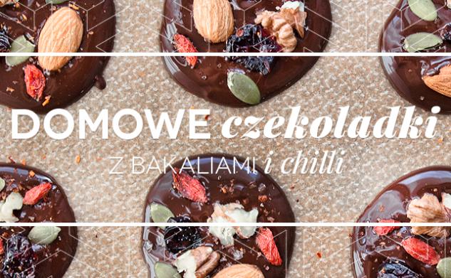 Domowe czekoladki z bakaliami i chilli