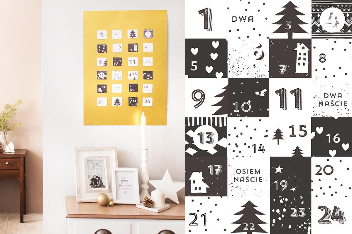 Kalendarz Adwentowy — do druku
