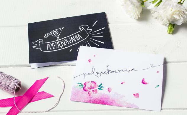 Kartki na podziękowania — do druku
