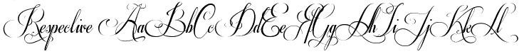 Respective font