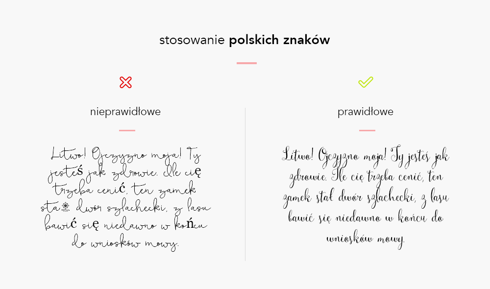 czcionki do worda z polskimi znakami