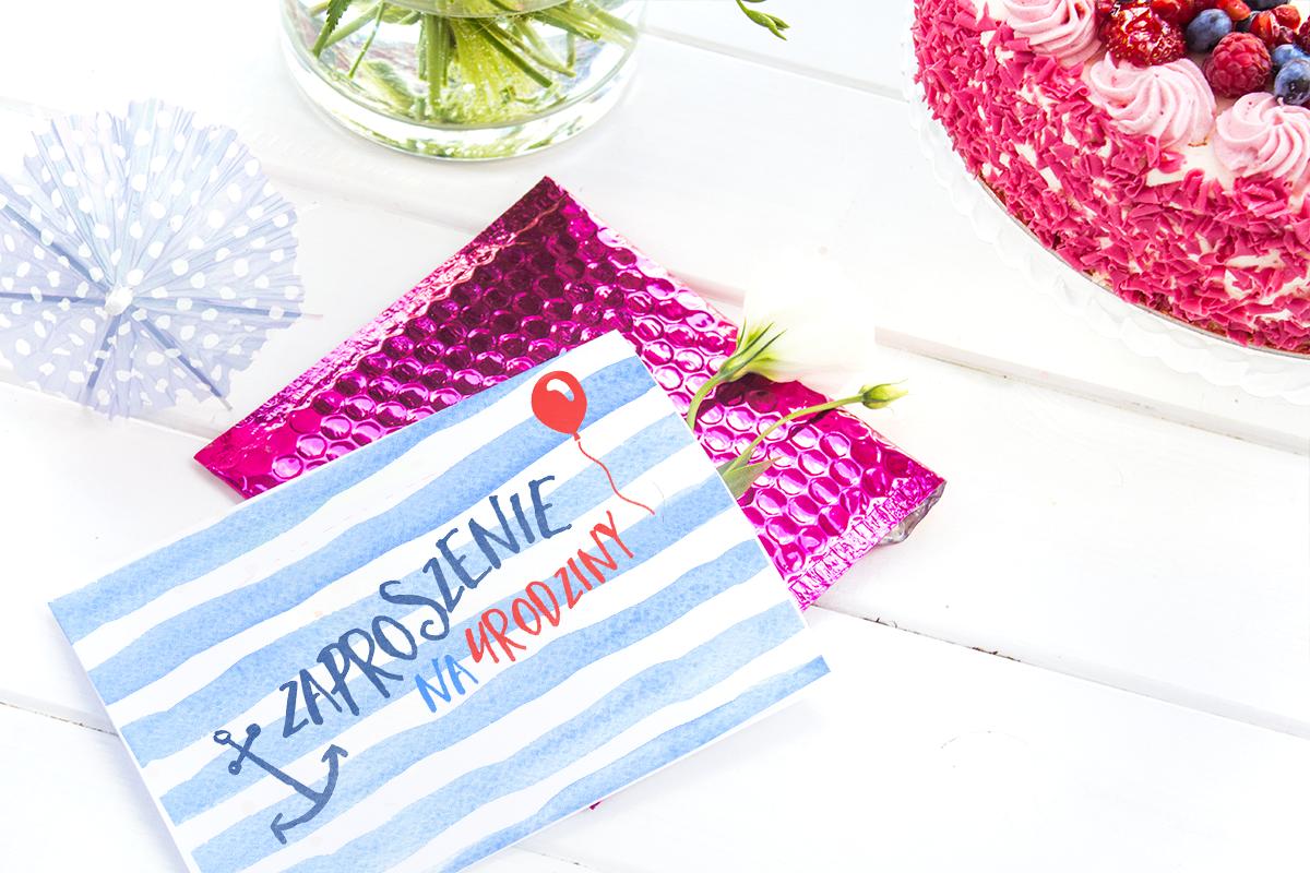Zaproszenia Na Urodziny Edycja Letnia 2 Wzory My Pink Plum