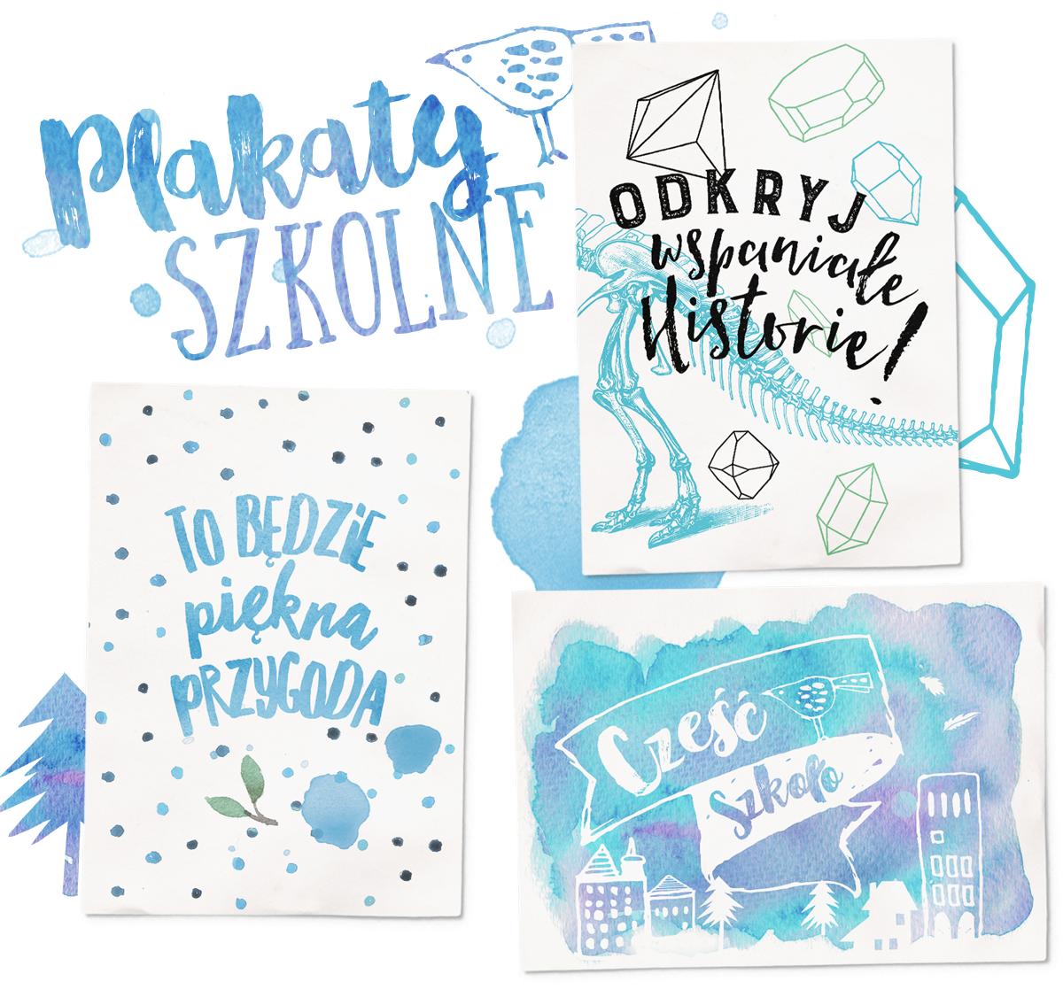Plakaty szkolne — 3 wzory