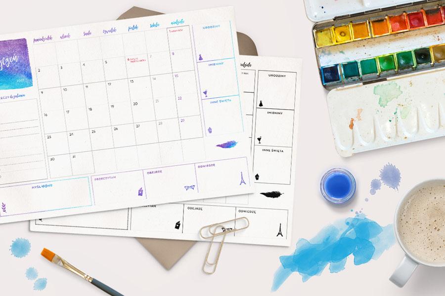 kalendarz-do-wydrukowania-styczeń-2017