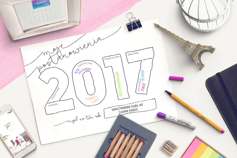 Grafika na postanowienia noworoczne 2017