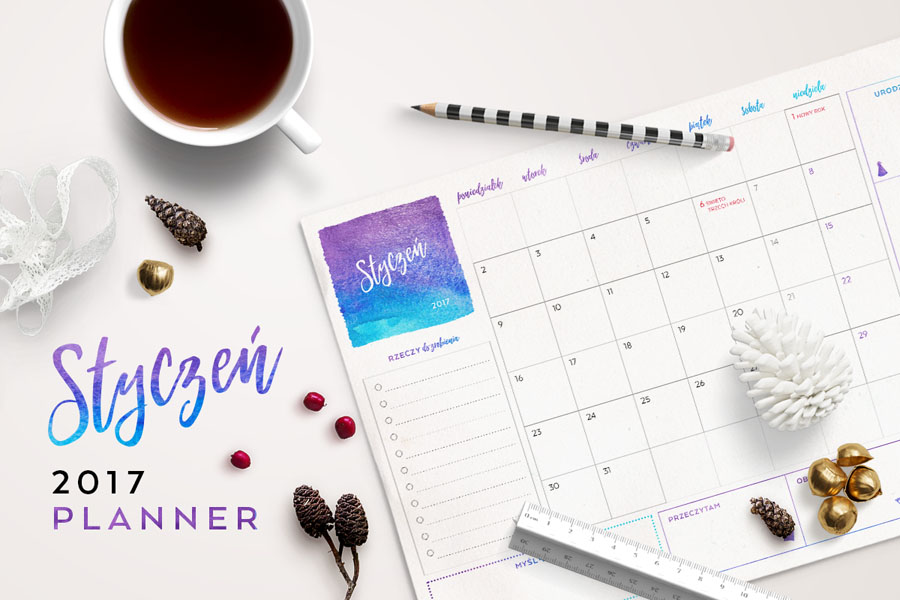 Plan miesiąca do druku — styczeń 2017