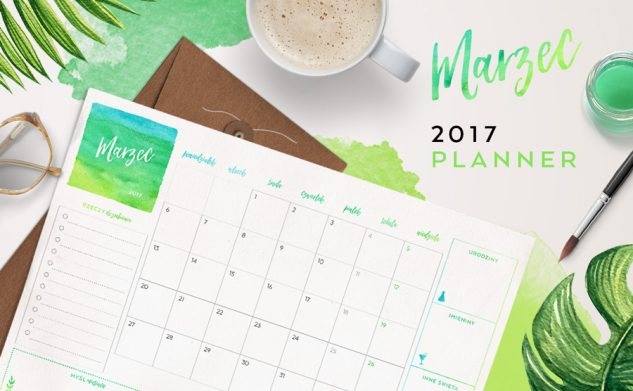 Plan miesiąca do druku — marzec 2017