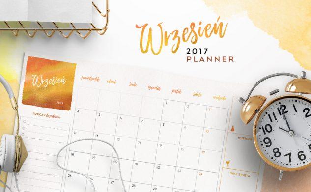 Plan miesiąca do druku — wrzesień 2017