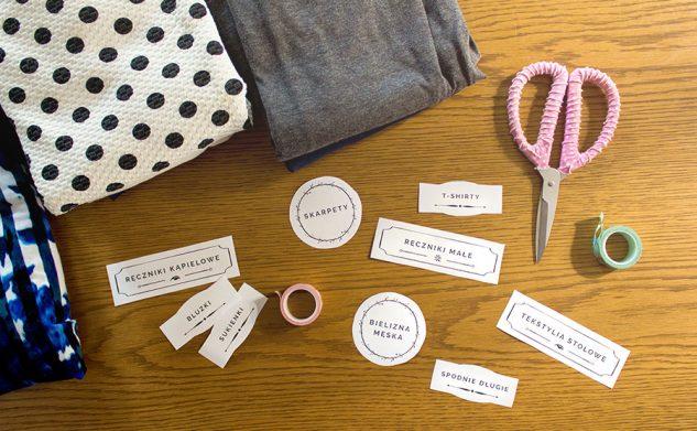 Porządek w szafie — etykiety do garderoby