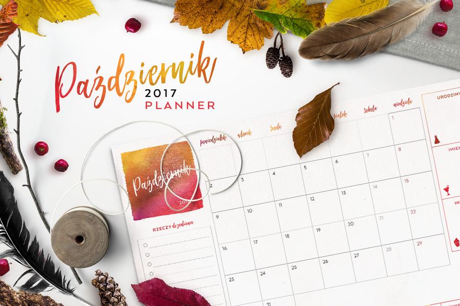 Plan miesiąca do druku — październik 2017