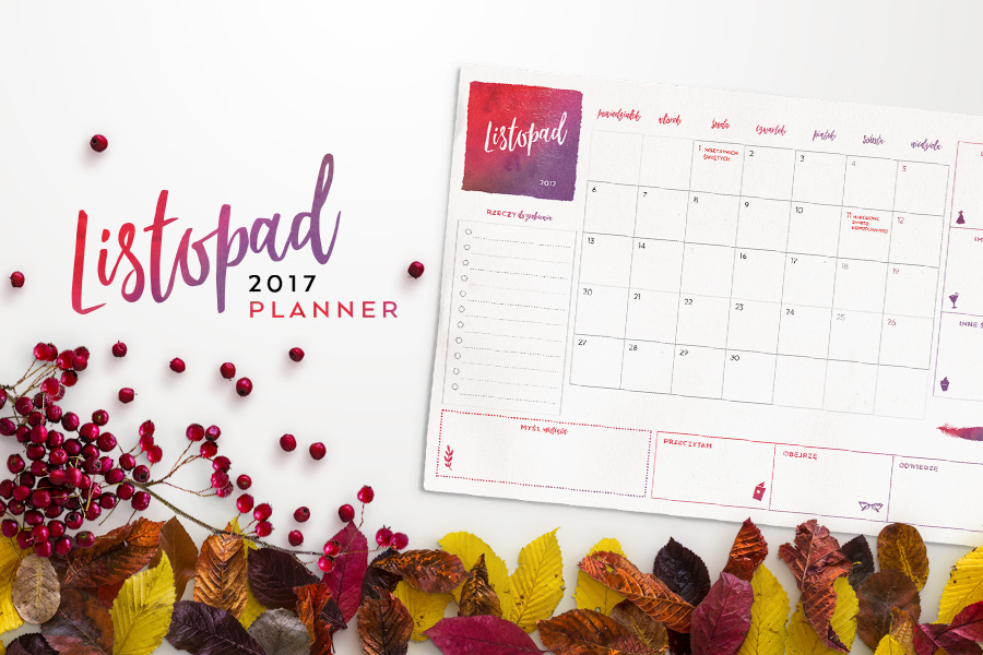 Plan miesiąca do druku — listopad 2017