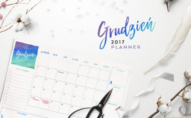 Plan miesiąca do druku — grudzień 2017