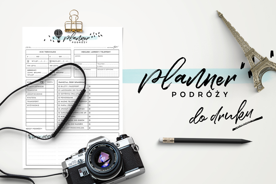 Mini planner dla podróżnika — do druku