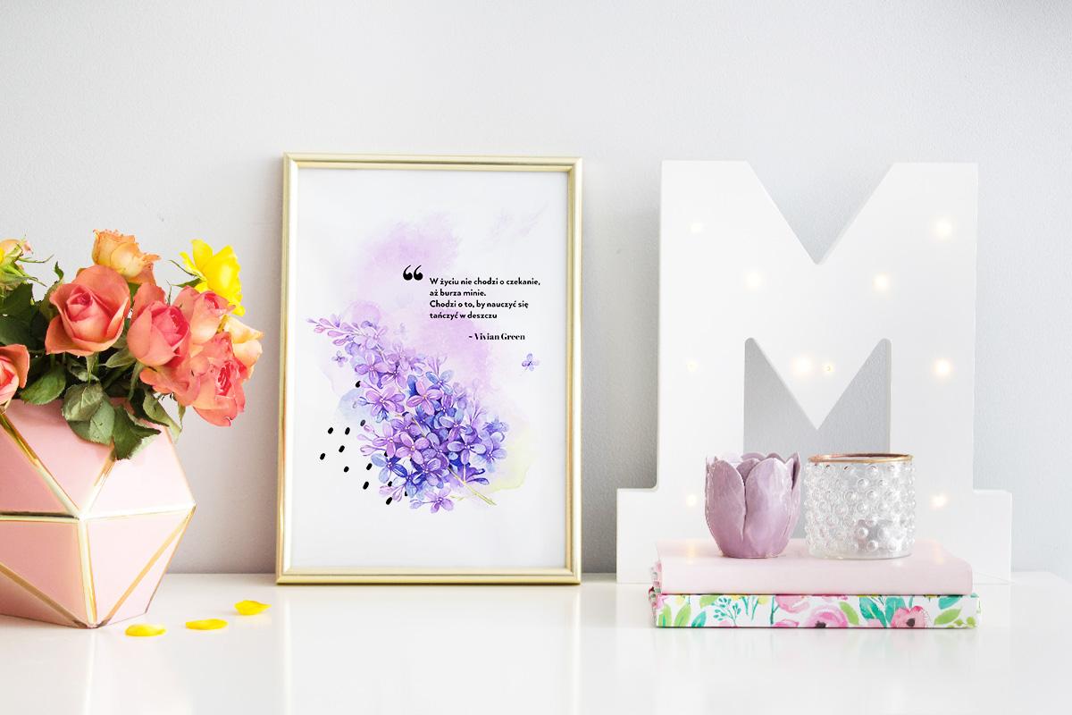 Wiosenne plakaty z cytatami do druku