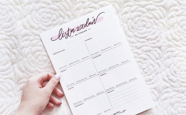 Wiosenna lista zadań — 2 wzory do druku