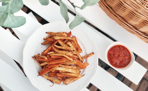 Przepisy: Dieta warzywno-owocowa — frytki z keczupem