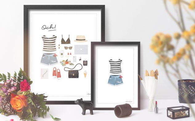 och outfit! 3 dziewczęce darmowe plakaty do druku