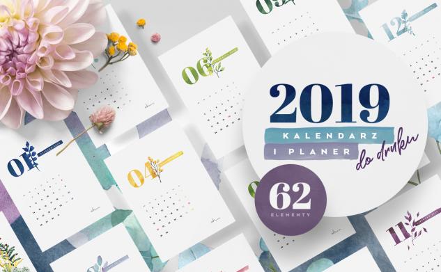 Kalendarz i planery 2019 do druku (MEGA PAKA)