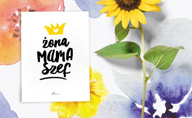 Żona, mama, szef  — plakat do druku