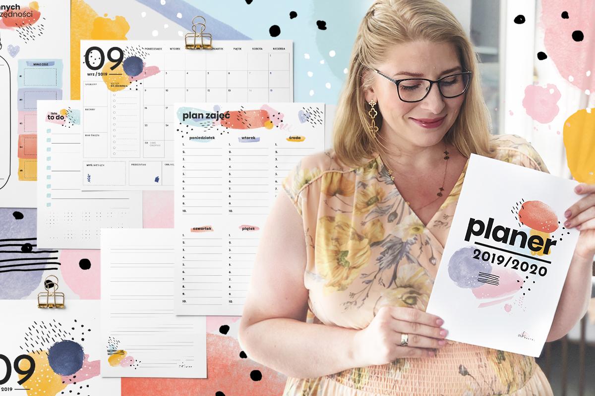 Planery do druku na rok szkolny/akademicki 2019/2020