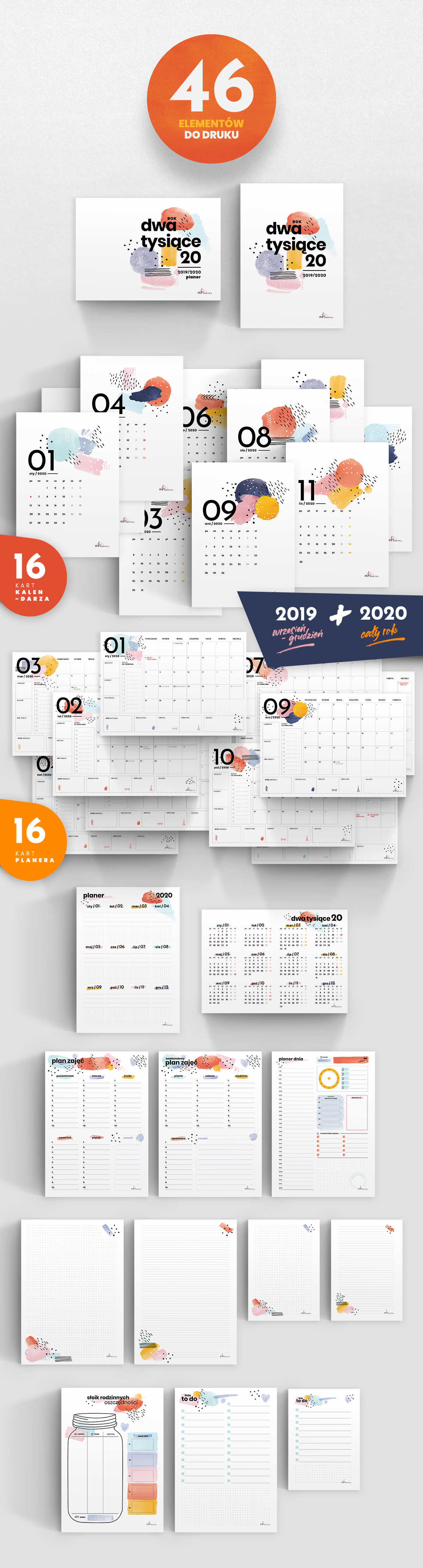 Kalendarz 2020 Do Druku My Pink Plum
