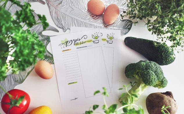 Kuchnia pełna ziół — darmowa karta przepiśnika bobasa do druku