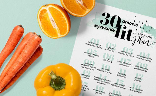 Grafika z 30 dniowym wyzwaniem FIT do druku