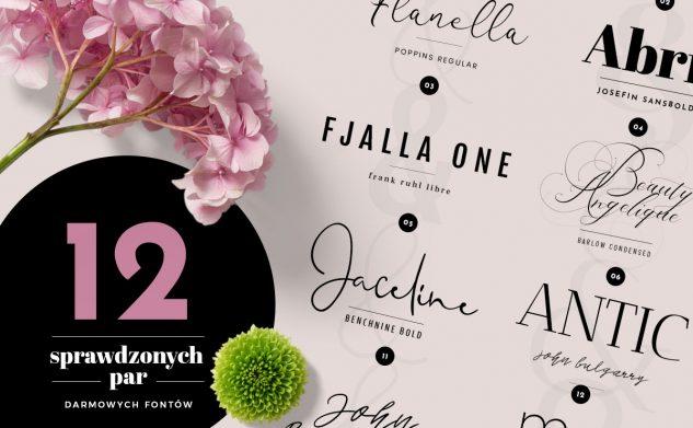 12 sprawdzonych par darmowych fontów