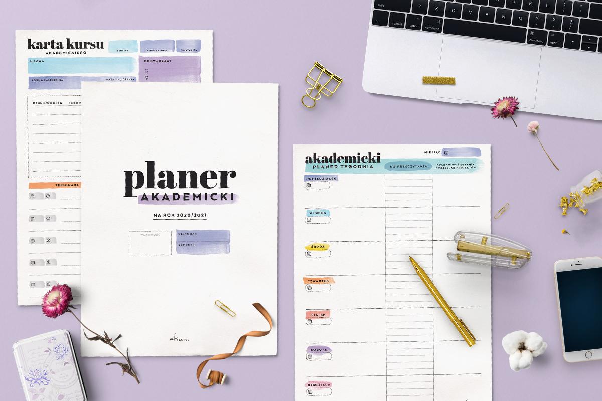 Planer akademicki z kalendarzem 2020/21 do druku