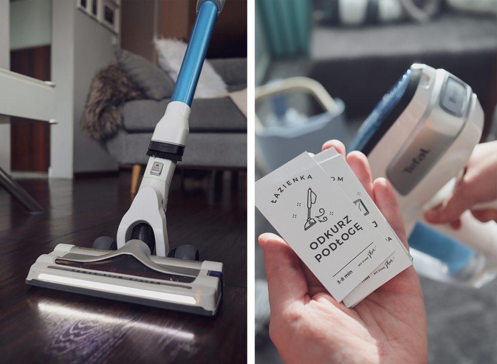 moja recenzja Tefal Aqua Flex myjący odkurzacz bezprzewodowy z elastyczną rurą do odkurzania bez schylania.
