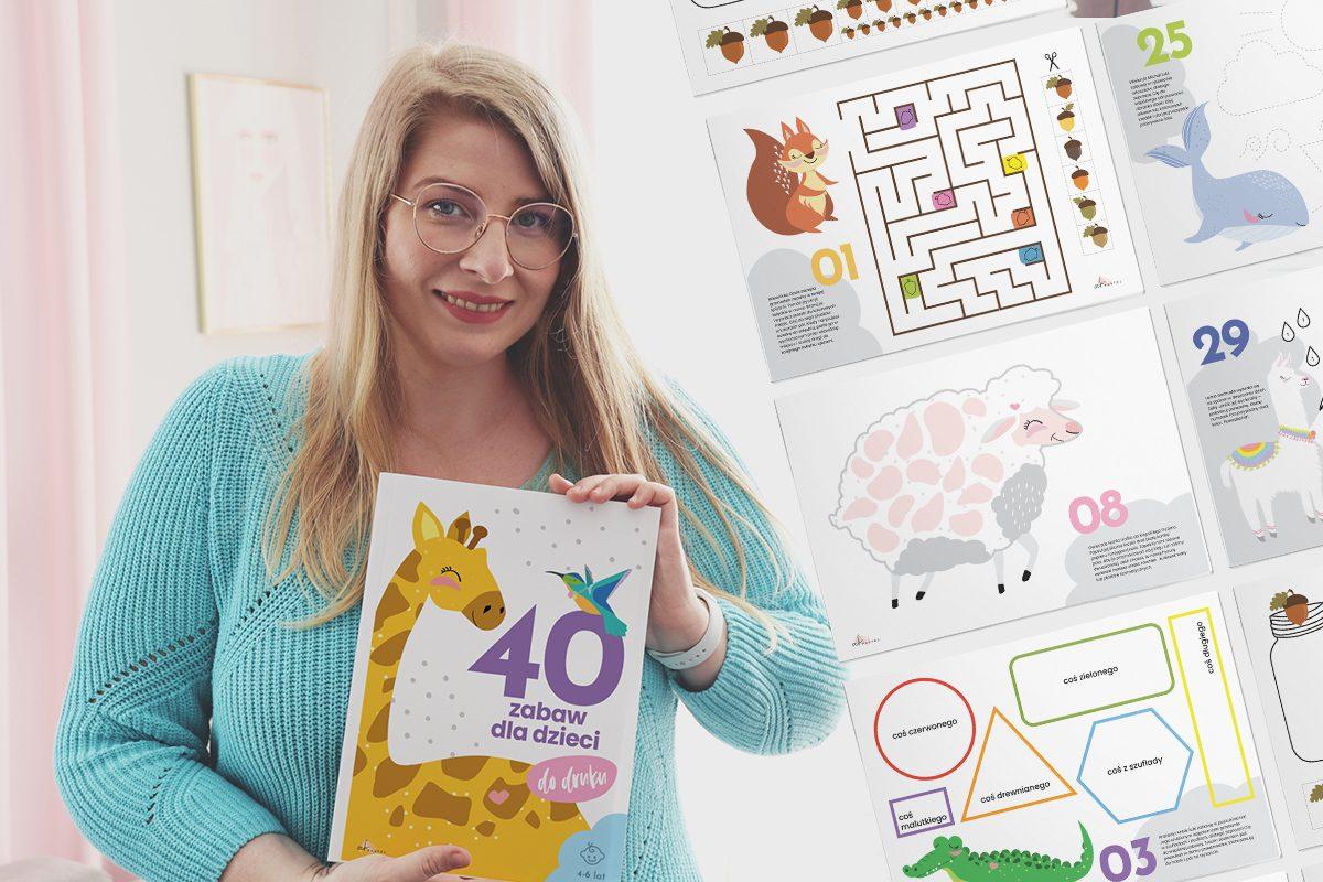 40 kart pracy do druku z zabawami dla dzieci + BONUS!