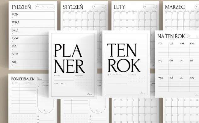 Piękne i minimalistyczne planery tygodnia i miesiąca do druku