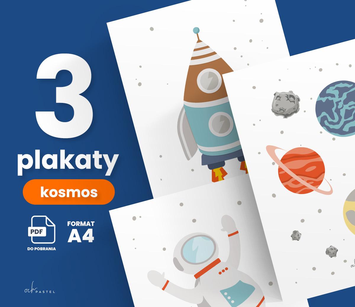 3 plakaty z kosmosem do druku