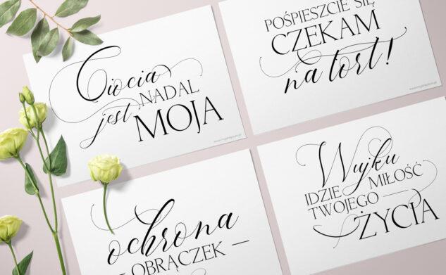 Plakaty dla dzieci do druku na ślub