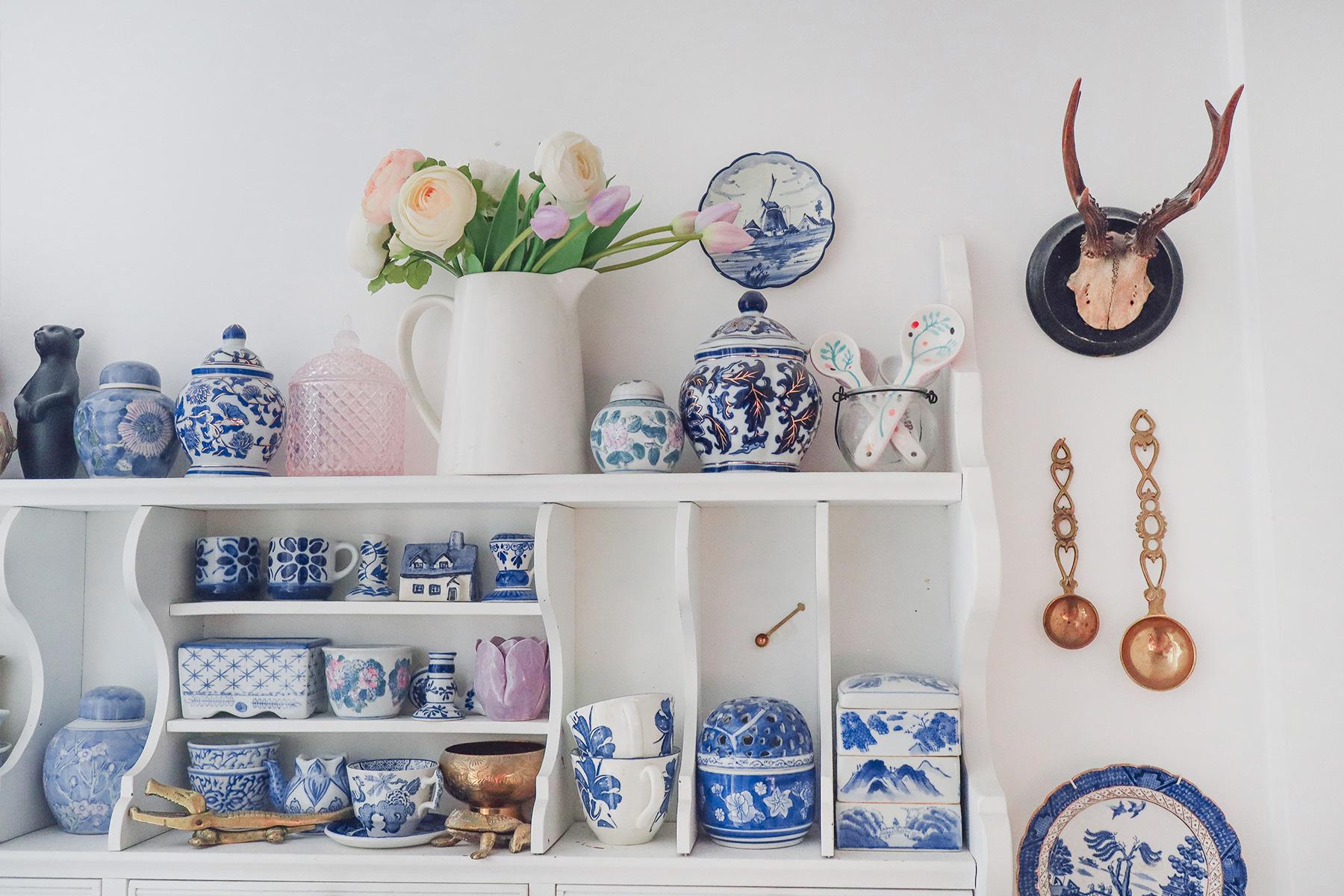 Moja kolekcja ceramiki w kolorze kobaltowym